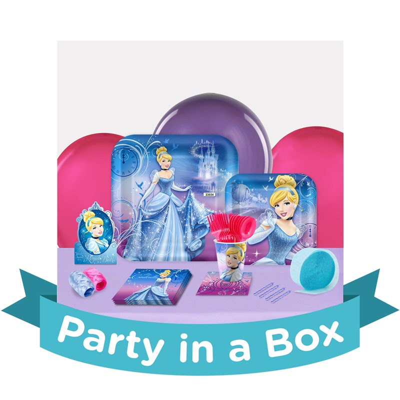 Disney Cinderella Sparkle Party in a Box - Basic - 8 Guests