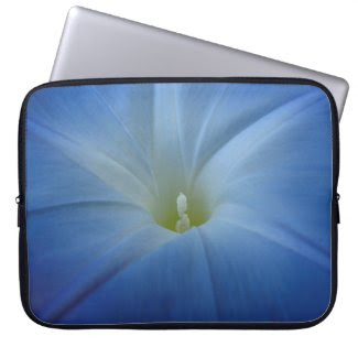 Heavenly Blue Morning Glory Close-Up Computer Sleeve