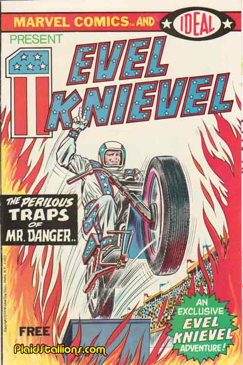 Evel Knievel comic book by Marvel