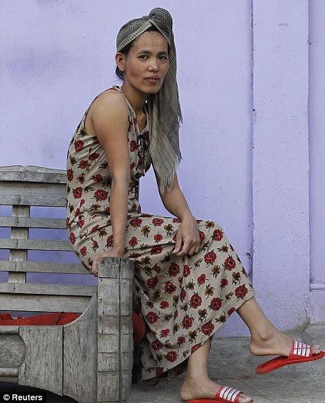 Lalthai, 38 anos, a 34ª esposa de Ziona