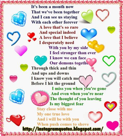 1 Month Anniversary Quotes For Your Boyfriend