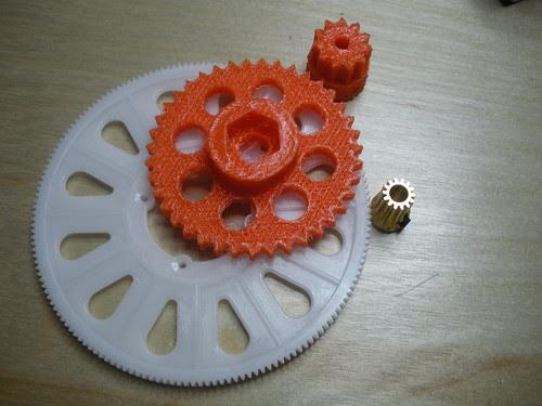 T-Rex 500 gears with Wade's gears