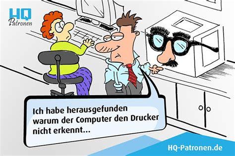 warum der computer den drucker nicht erkennt comic