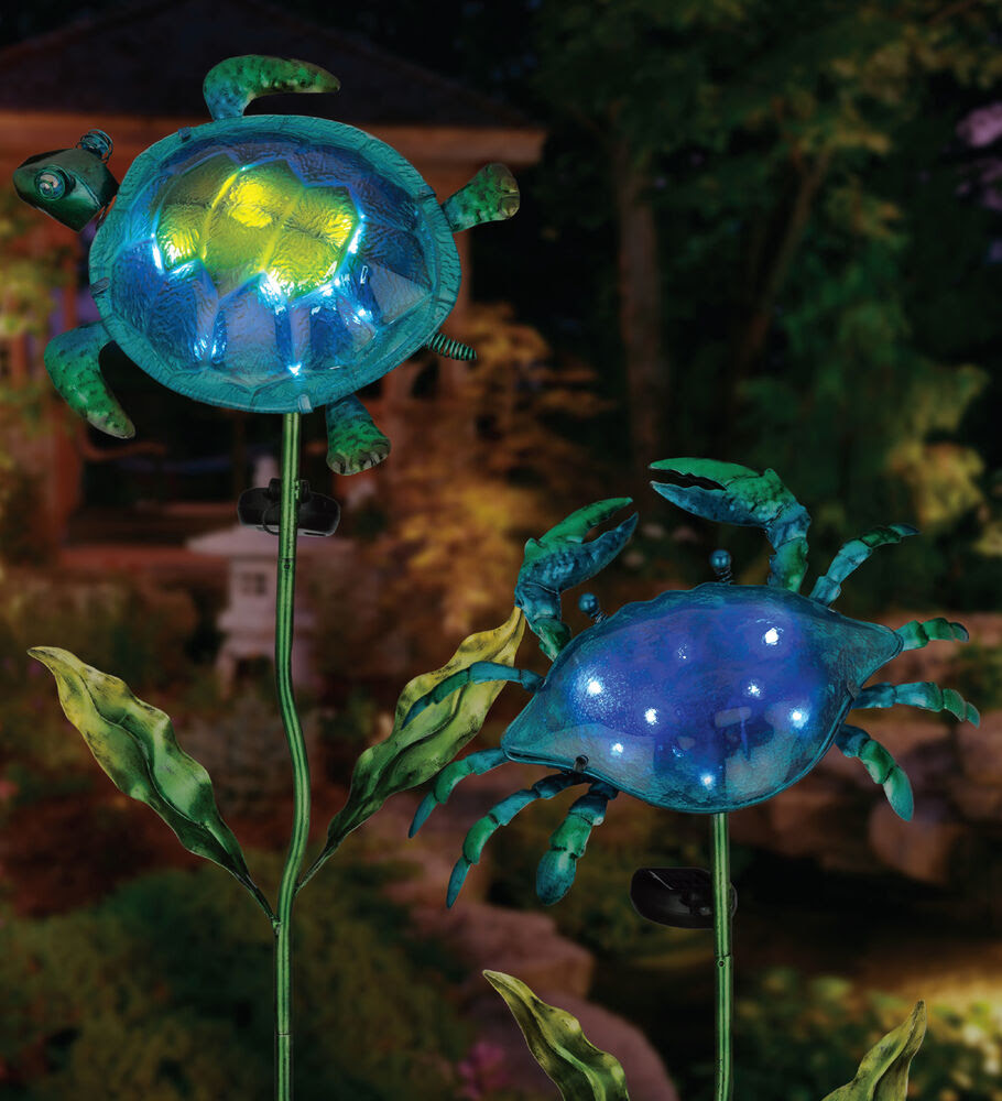 Hunnykome Solar Powered Turtle And Snail Spot 1light 5 In