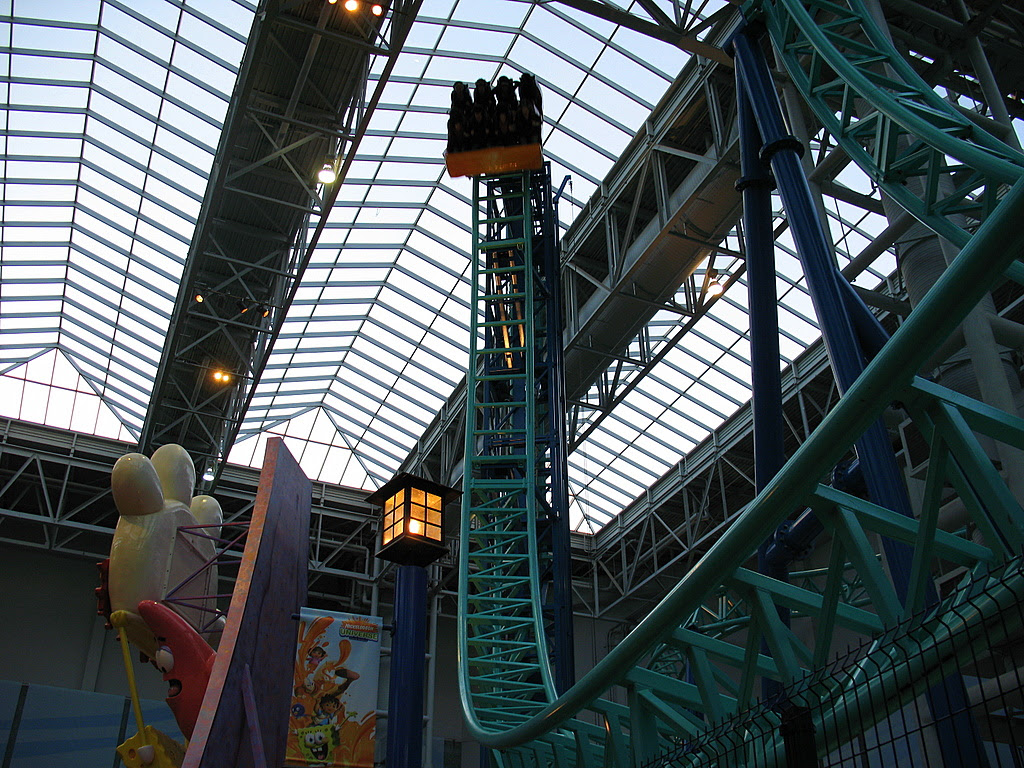 The new roller coaster at the Mall Of America.