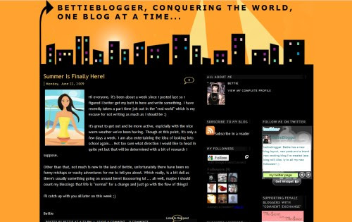 BettieBlogger, conquering the world, one blog at a time