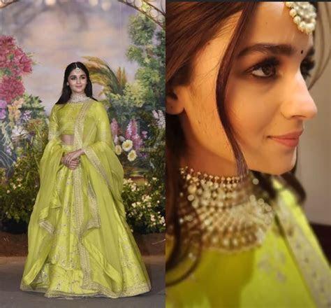 Alia Bhatt looked beautiful in a lime green Sabyasachi