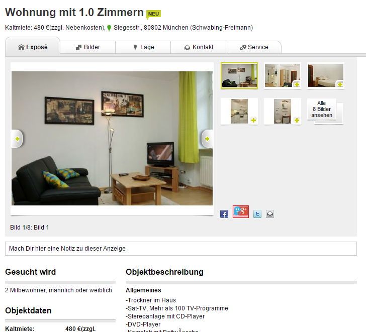 neudorfdaniel wohnung mit 1 0 zimmer 22301 hamburg. Black Bedroom Furniture Sets. Home Design Ideas
