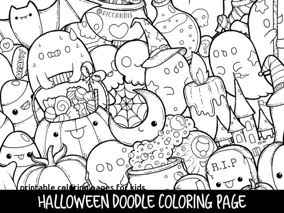 Kawaii Printable Coloring Pages For Kids Drawing With Crayons