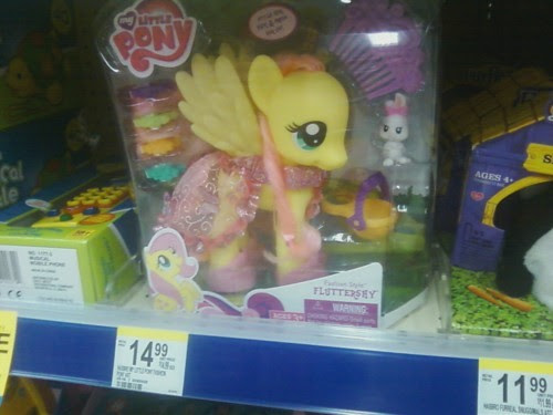 fashion fluttershy on the wallgreens shelf