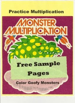 FREE MONSTER MULTIPLICATION:  multiplication facts {Common