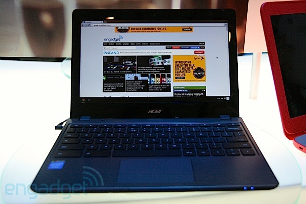 New Acer Chromebook with Haswell handson video