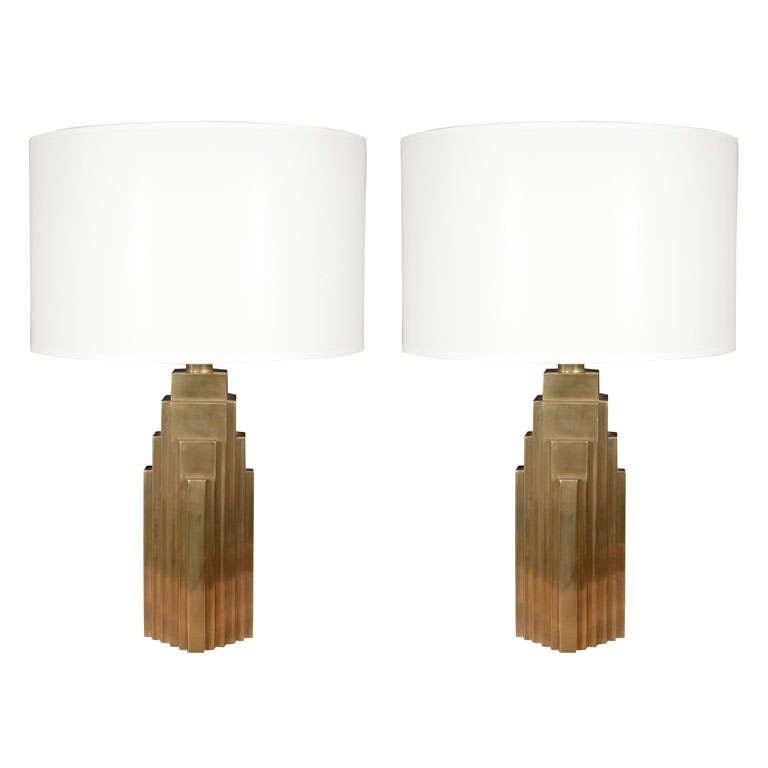 BRASS SKYSCRAPER LAMPS