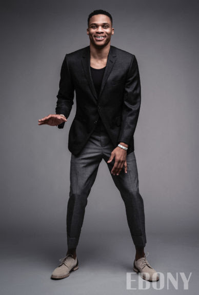 Russell Westbrook for EBONY. Photo: Mark Mann