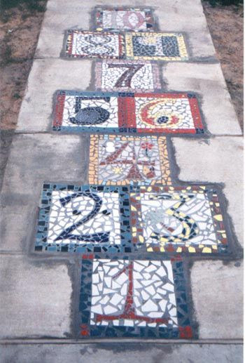 Mosaic hopscotch!