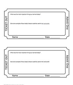 Time Exit Tickets   Math Manipulation   Pinterest   Exit tickets ...