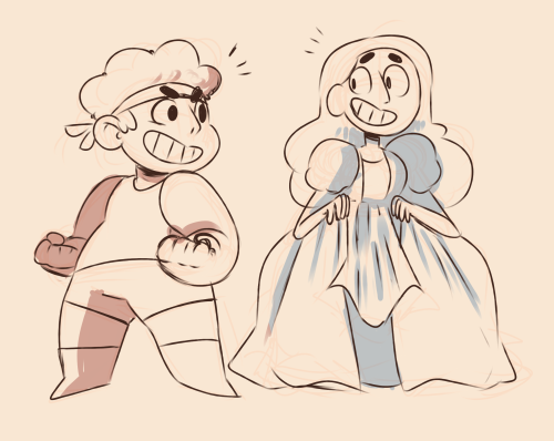 datgirlcw said: You know ruby and sapphire from Steven universe? Can you draw Connie as sapphire and Steven as ruby and their fusion 😫😫 Answer: nice nice NOICE