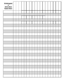 Editable Gradebook Template by Kristin Pappas   Teachers Pay Teachers