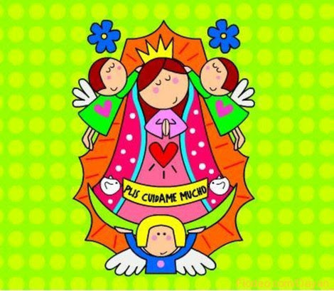 Dibujo De La Virgen De Guadalupe Facil Imagui