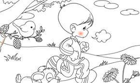 Koşan çocuğu Boyama Oyunu Minika Oyun