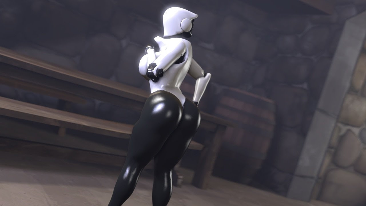 NSFW: Haydee is all about butts, and of course there's a nudity mod screenshot