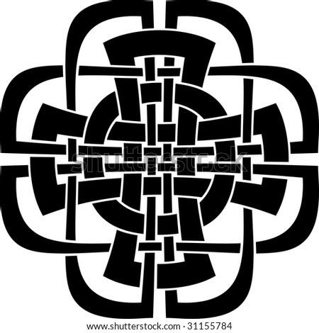 stock vector : cross - tattoo design