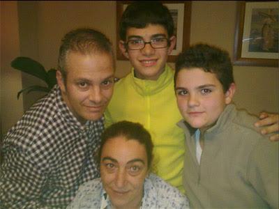 Jordi Velasco con su familia.