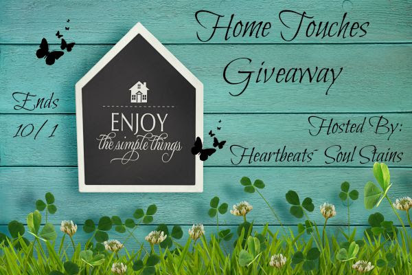 Home Touches Giveaway . Ends 10/1