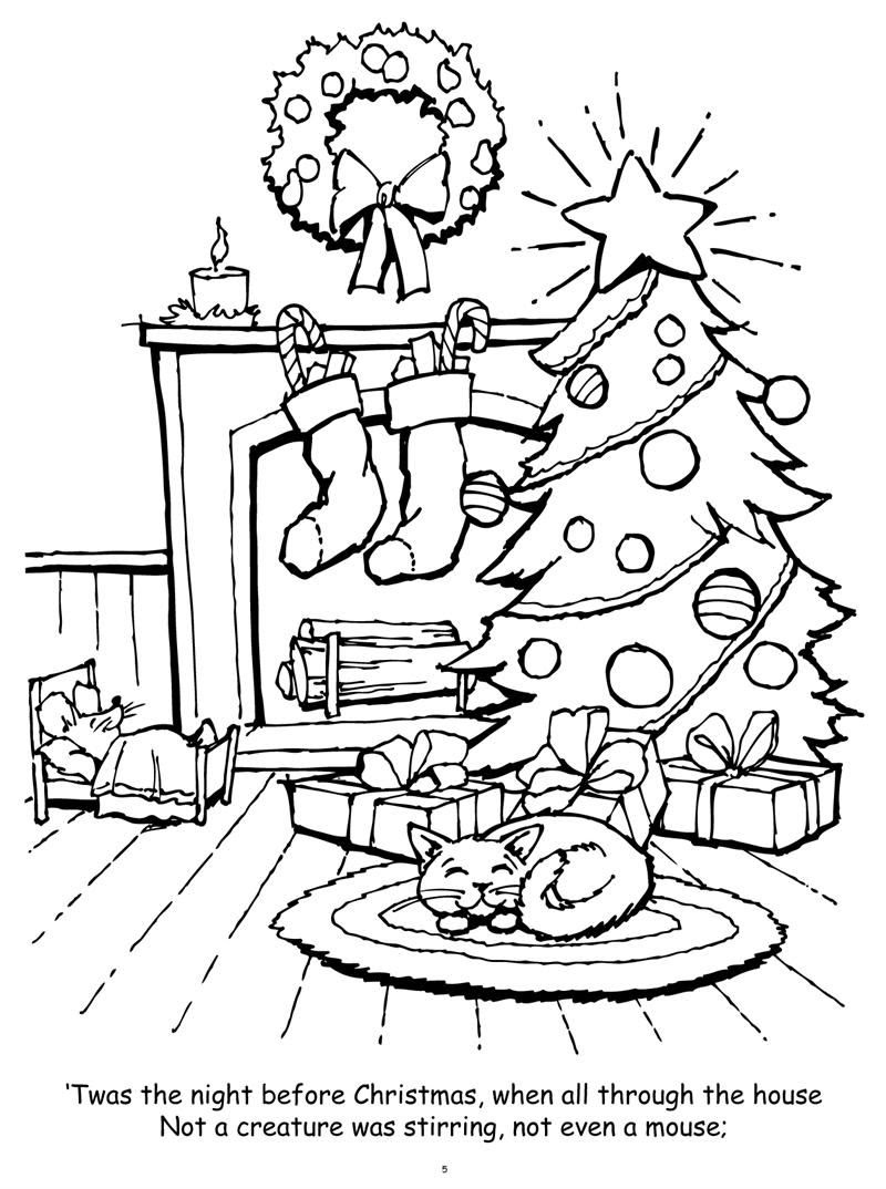 Night Before Christmas Coloring Pages Free Coloring Pages ...