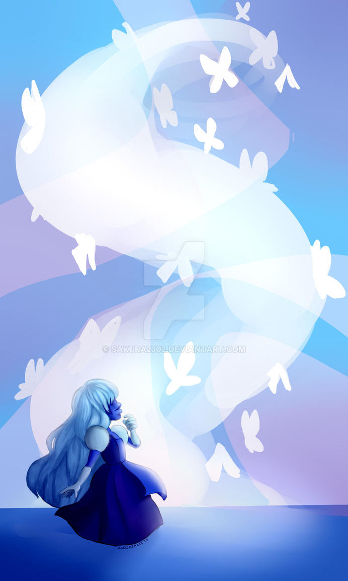 I drew Sapphire from Steven Universe cuz' my tablet is finally repared and also because I wanted to draw her !