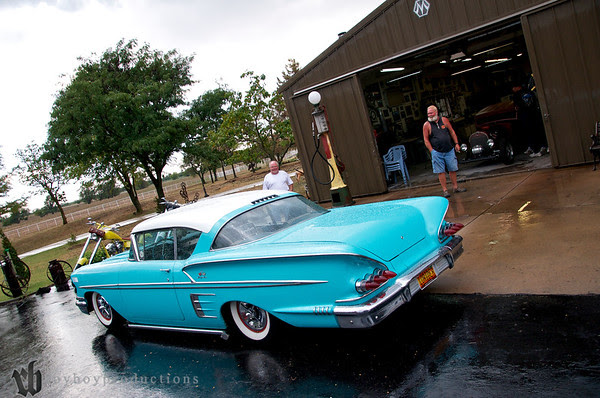 Johnny Hammond's kool 58 with a fresh coat of rain after a mini downpour.