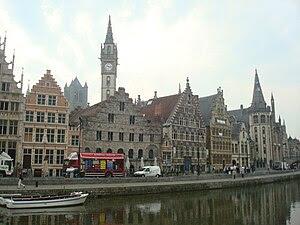 Español: La hermosa ciudad de Gante, capital d...