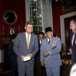 JFK and President Soekarno