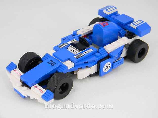 Transformers Mirage Kre-O - modo alterno