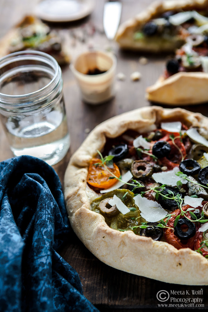 Tomato Goat Cheese Anchovy Galette (0059) by Meeta K. Wolff