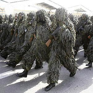 Iranian soldiers trying to impersonate Swamp Thing...