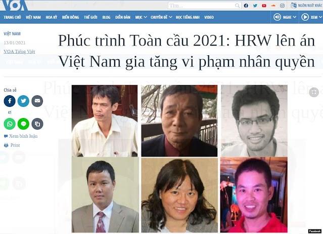 Phúc trình toàn cầu 2021: HRW tiếp tục xuyên tạc tình hình nhân quyền ở Việt Nam