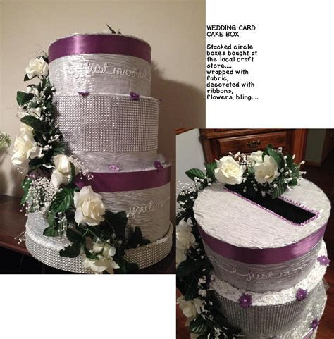 DIY Wedding Cake Card Box Stacked round cardboard boxes