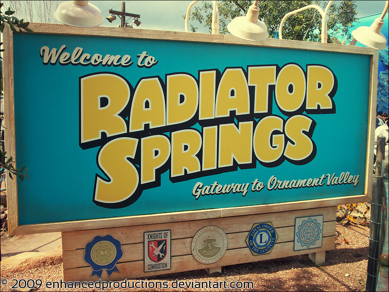 Welcome to Radiator Springs by enhancedproductions on ...
