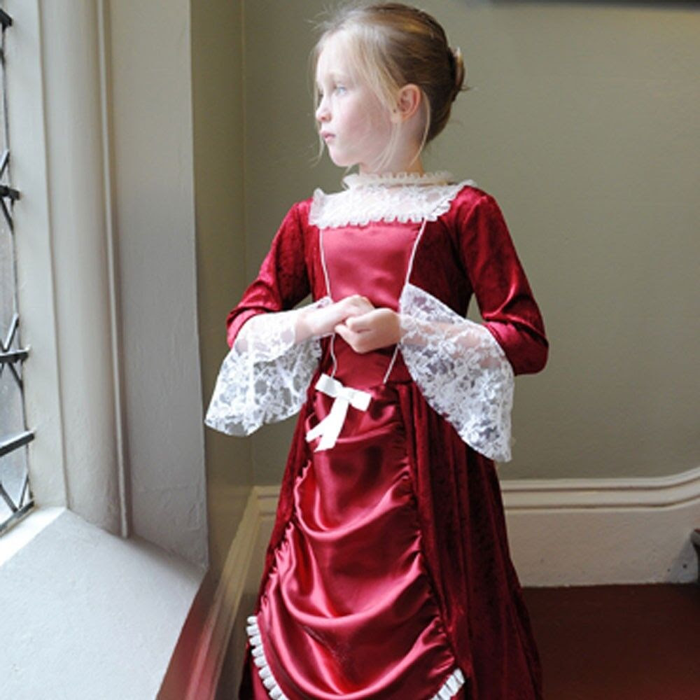 deluxe childs girls rich victorian lady queen princess red