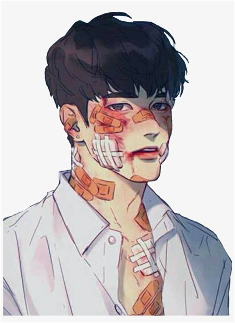 korean koreanboy bloody tumblr aesthetic hurt bandaid