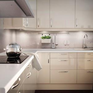 Ikea Shiny White Kitchen Cabinets