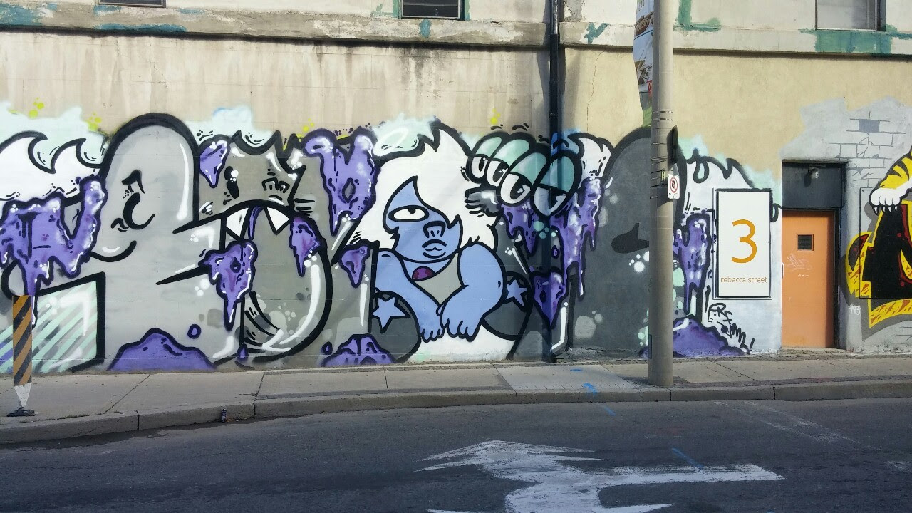 Some graffiti I saw downtown. If you know the artist let me know!