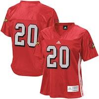 adidas Louisville Cardinals #20 Ladies Red Replica Football Jersey