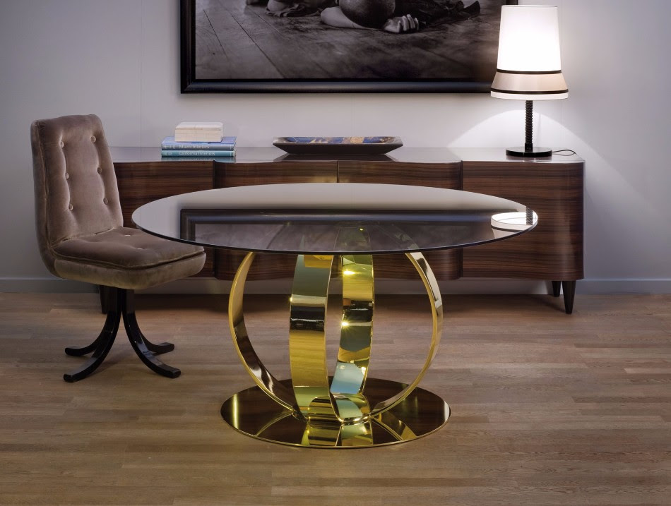 10 Gold Dining Tables For The Most Luxury Interiors