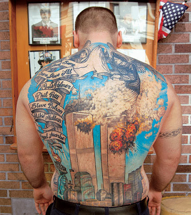 months with a tattoo artist to render the World Trade Center attacks