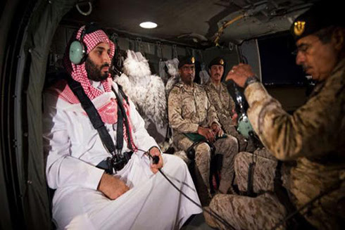 Saudi 'muscle flexing': Defense minister tours the border with Yemen