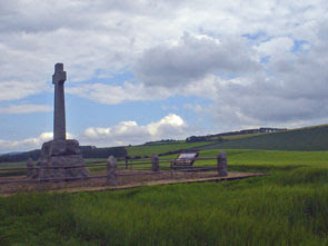 stone memorial atop Flodden Field