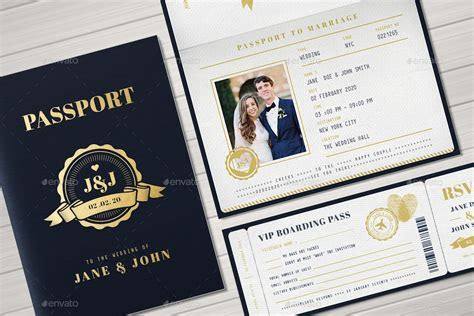 Passport Wedding Invitation by Vector Vactory   GraphicRiver