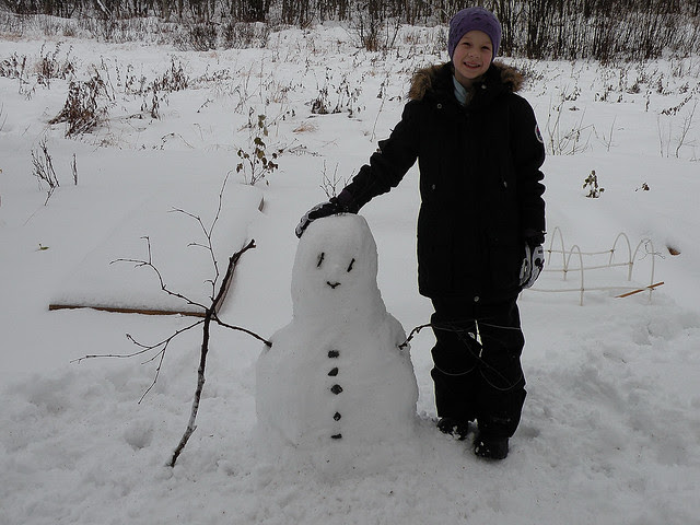 Winter's first snowman
